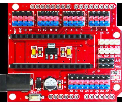 Плата расширения Arduino nano red