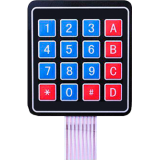 клавиатура пленочная матричная 4х4 на 16 кнопок